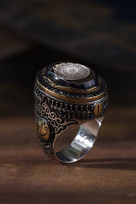 Safir Taşlı Yuvarlak İnşirah Modeli - Thumbnail